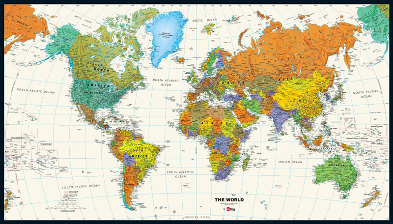 Tyvek World Map 29 5 X 53 Material Concepts